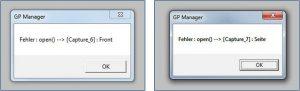 Abbildung 5: Fehlermeldungen bei Kameraproblemen während einer VideoSupport Messung