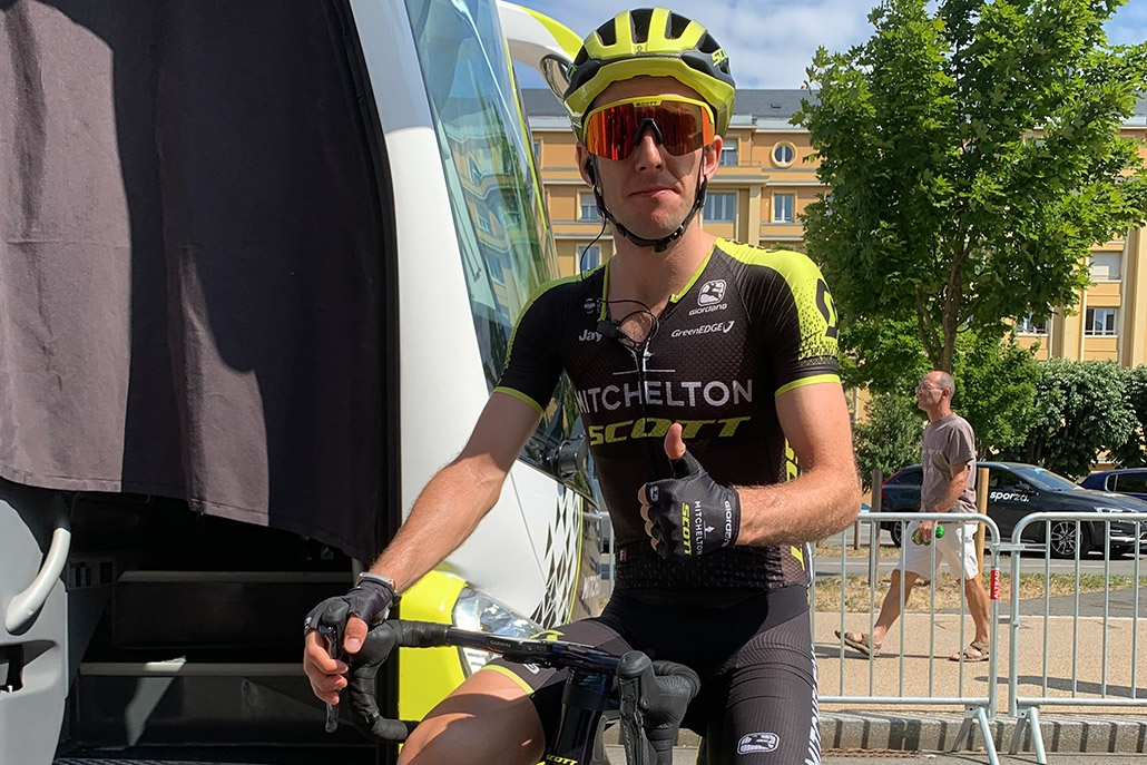 Simon Yates (Mitchelton-Scott) just befor Stage 7 of the Tour de France 2019 kicks off.