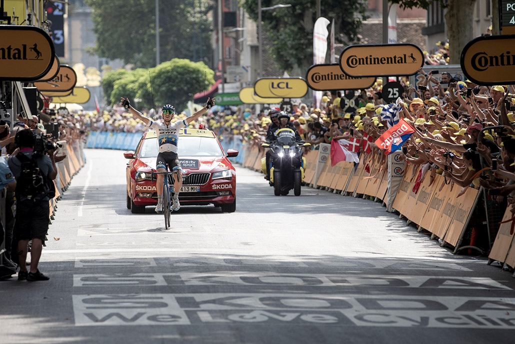 (c) Kramon | Matteo Trentin (Mitchelton-Scott) wins Stage 17 of the Tour de France 2019.