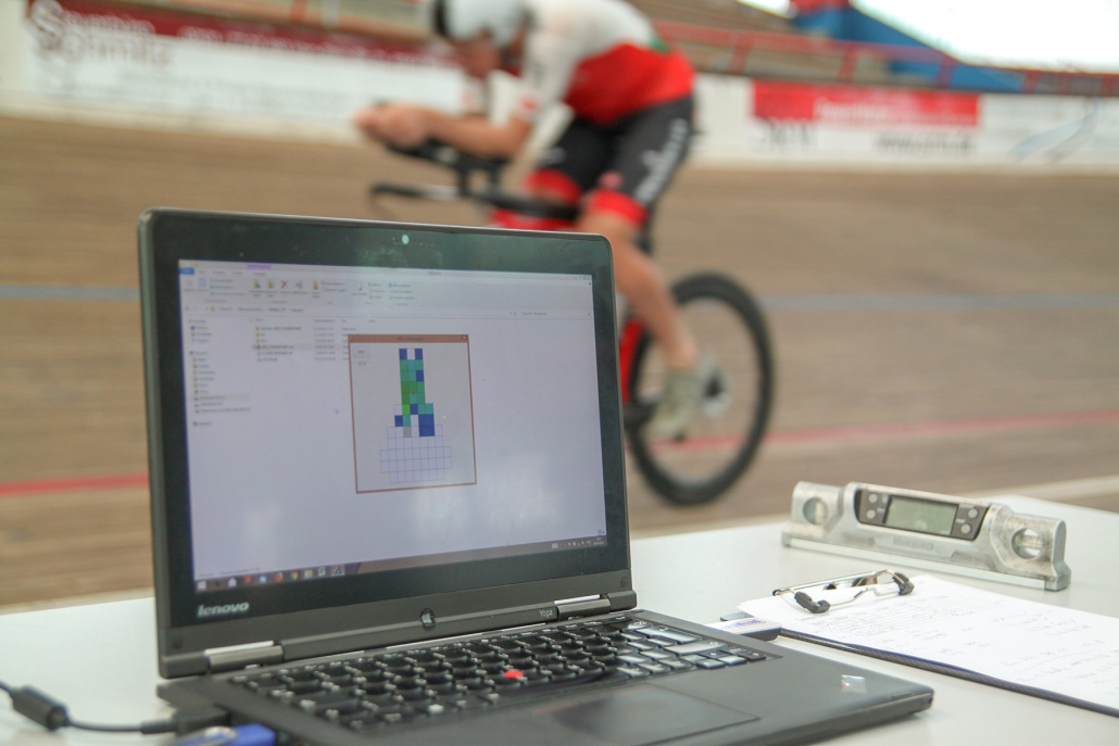 Cameron Wurf testing with gebioMized and Staps in Velodrome Büttgen