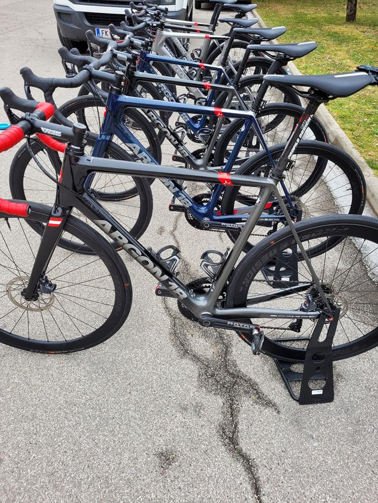 Ready to ride: Der Furhpark des Teams Vorarlberg.